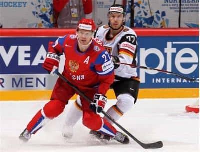 Российская сборная выиграла у немецкой на ЧМ по хоккею