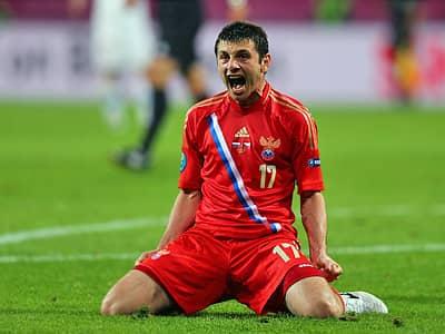 Дзагоев вошел в рейтинг лучших бомбардиров Евро-2012