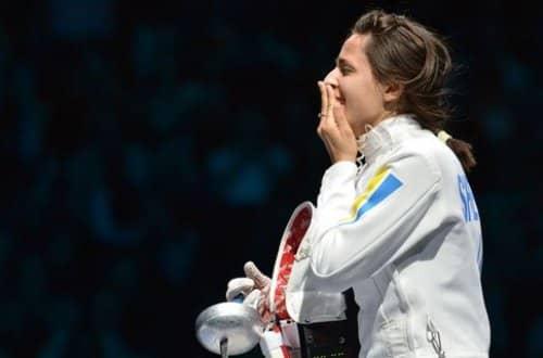 Первое золото Украине принесла фехтовальщица Яна Шемякина
